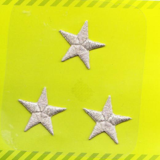 Applikation Sterne - silber