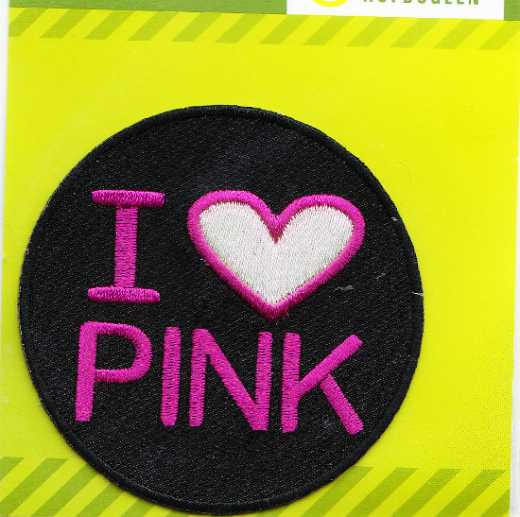 Applique I love Pink