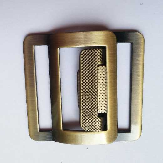 Belt Buckle with Pattern antique brass