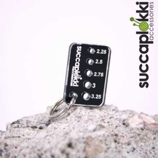 Succaplokki Keychain Needle Gauge Tiny - black