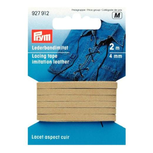 Faux Leather Tape 4 mm - beige