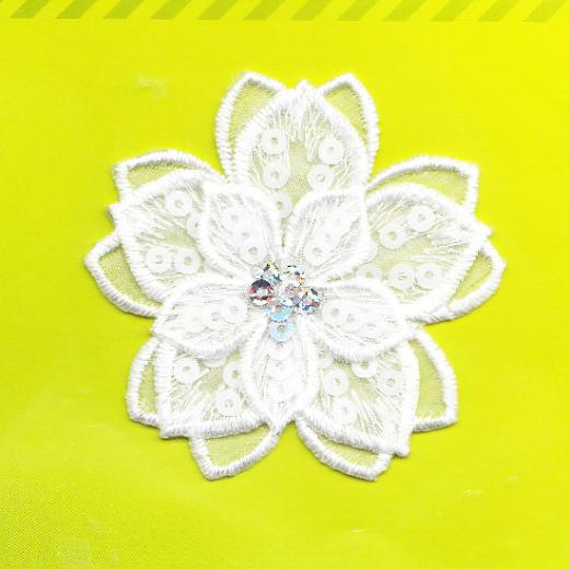 Applique Blossom with Sequins