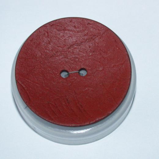 Knopf Kokos - 40 mm - rot