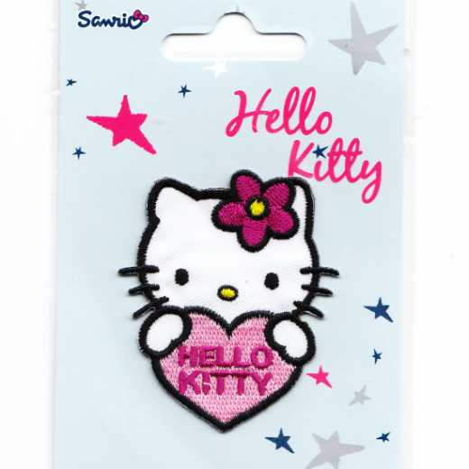 Applique Hello Kitty with Heart