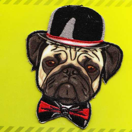 Applique Pug with Hat