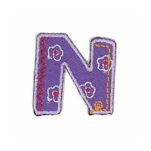 Applique Letter N