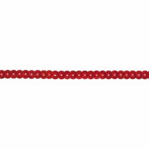 Sequin Trim 90 mm - red