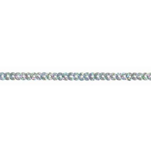 Sequin Trim Iridescent - silver