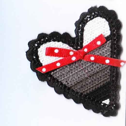 Applique Crocheted Heart