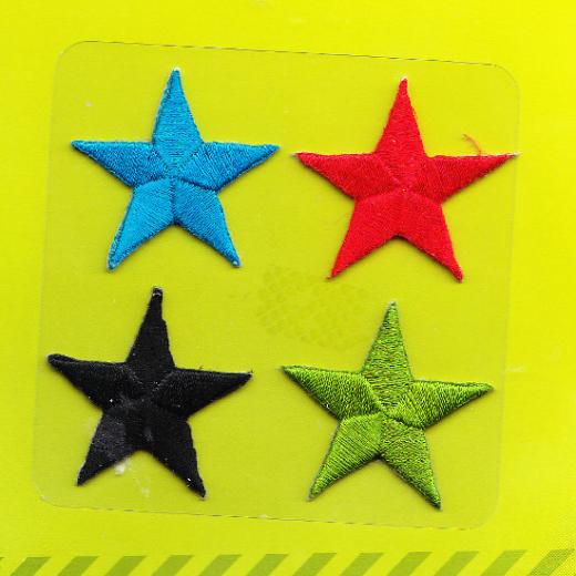 Applique Stars - multicolored