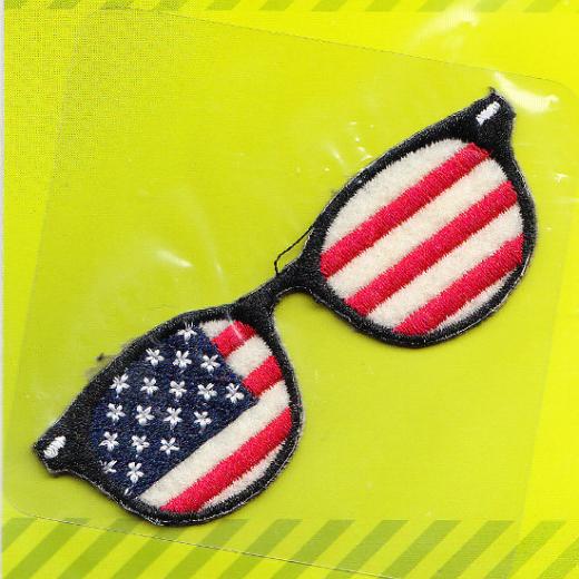 Applikation Brille - Stars & Stripes