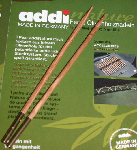 addiClick Tips Olive Wood 4,5 (US 7)