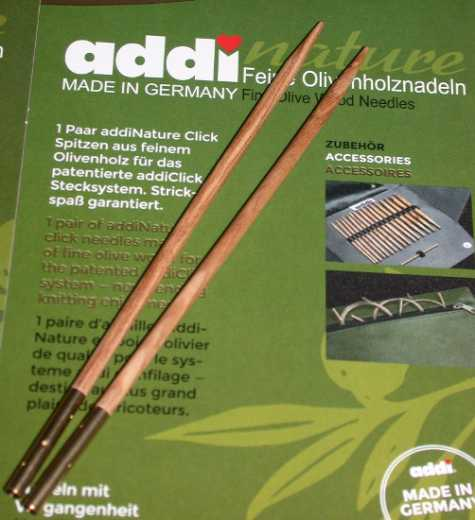 addiClick Tips Olive Wood 7,0 (US 10.75)