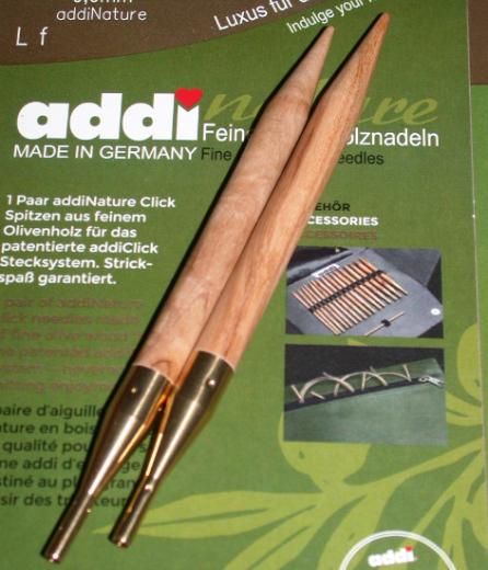 addiClick Tips Olive Wood 10,0 (US 15)