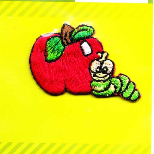Applique Apple and Worm