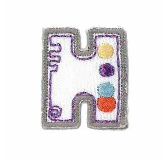 Applique Letter H