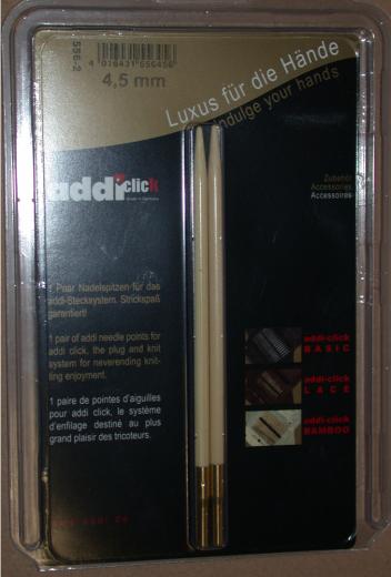 addiClick Tips Bamboo - 6,0 (US 10)