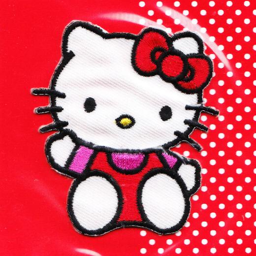 Applikation Hello Kitty - sitzend