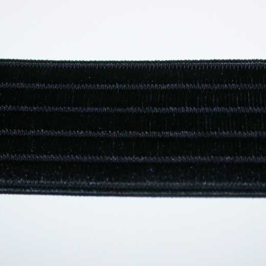 Elastic Webbing Strap 40 mm - black