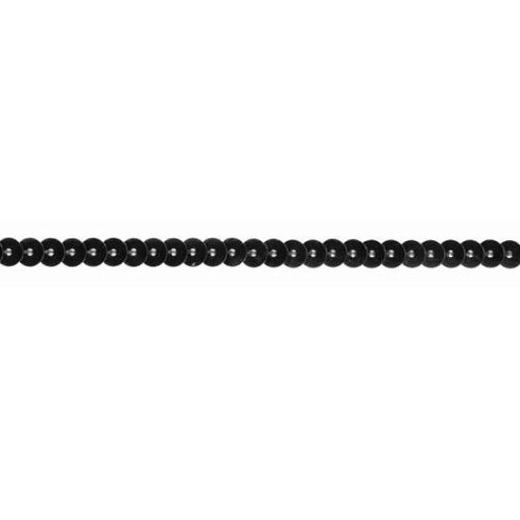 Pailettenborte einfach - schwarz
