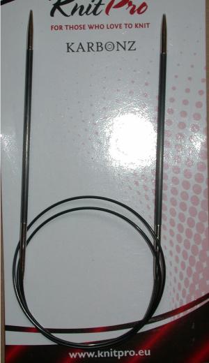 Knit Pro Circular Karbonz 6,0 (US 10) - 80 cm