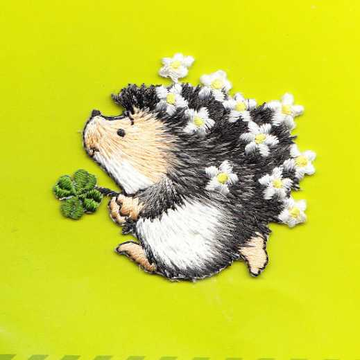 Applique Hedgehog and Flowers