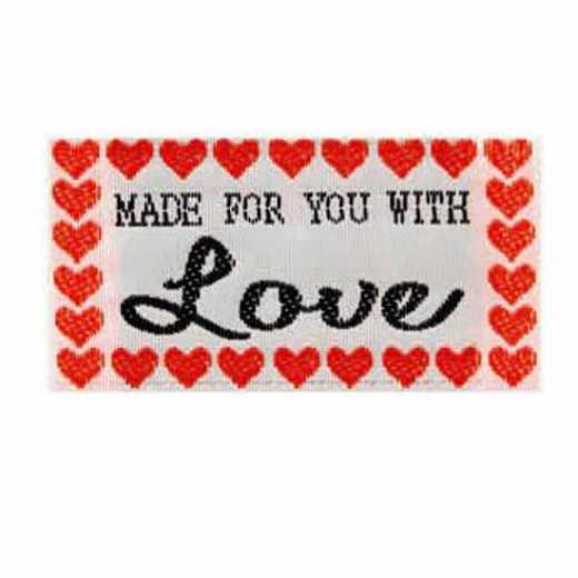 Fabric Label - Made for you with Love
