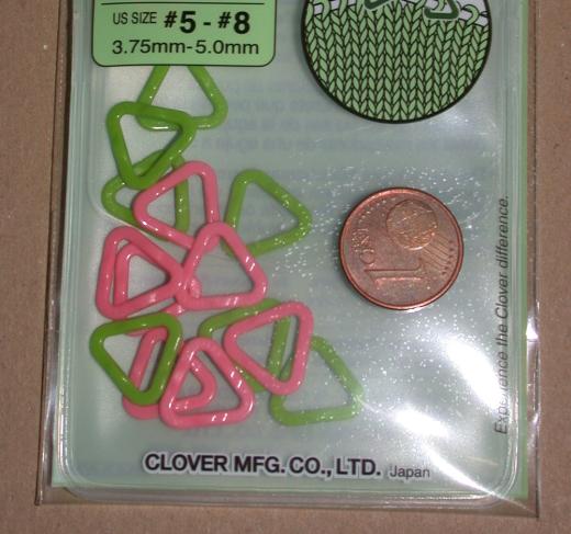 Clover Triangle Stitch Markers - small
