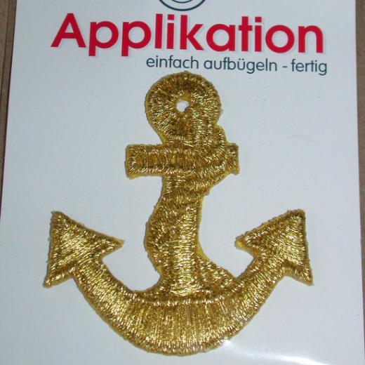 Applikation Anker - Lurex gold