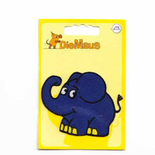 Applique Blue Elephant