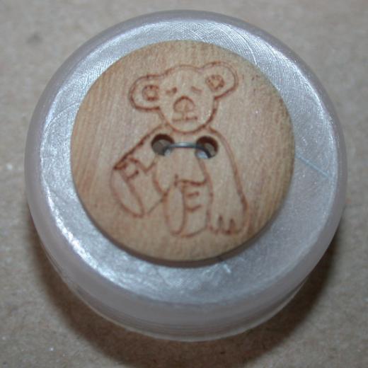 Knopf Holz Teddy 15 mm