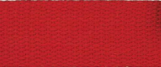 Cotton Webbing Strap 25 mm - red