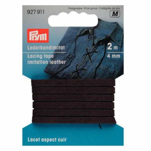 Faux Leather Tape 4 mm - dark brown