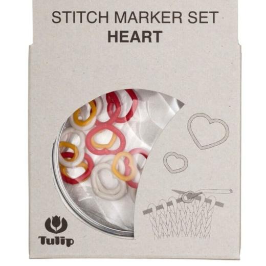 Tulip Stitch Marker Set - Heart