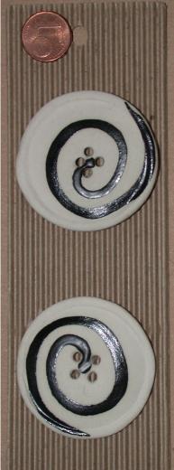 Buttonmade - Runde Knöpfe schwarz-weiß groß I