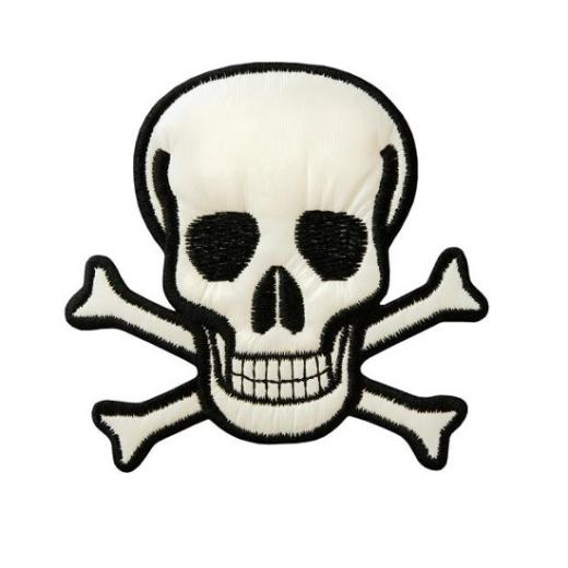 Applique Skull - white