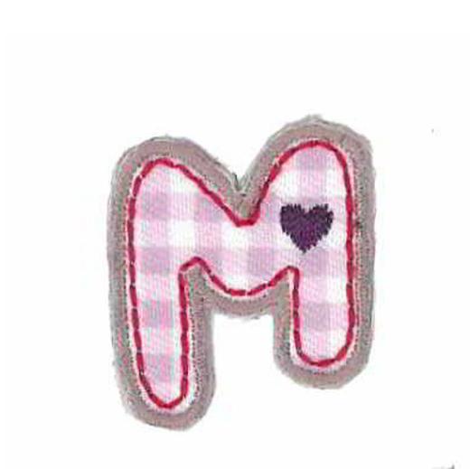 Applique Letter M