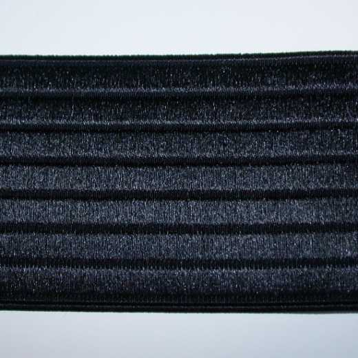 Elastic Webbing Strap 60 mm - black