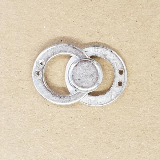 Metallverschluss rund matt-silber