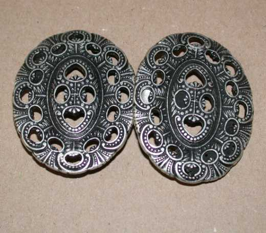 Ornamentverschluss oval - 80 mm