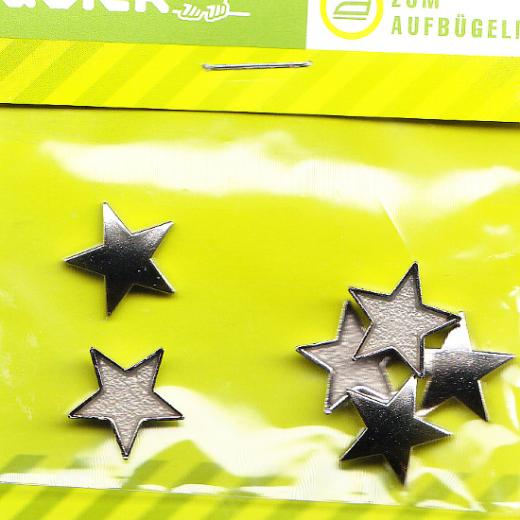 Bügelnieten Sterne - glatt