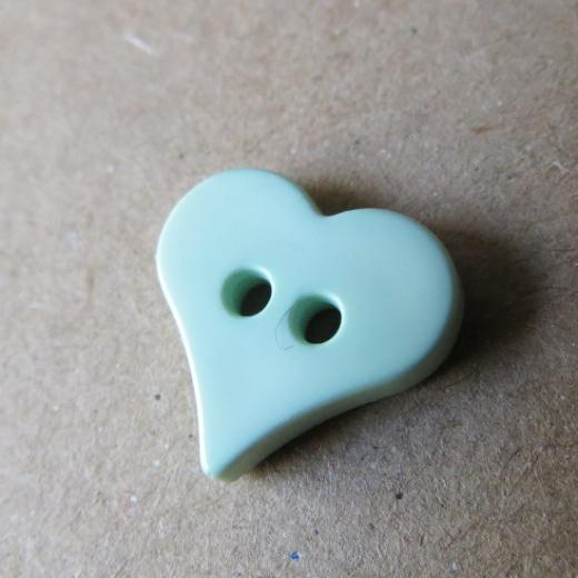 Knopf Flaches Herz grün