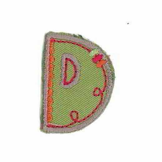 Applique Letter D