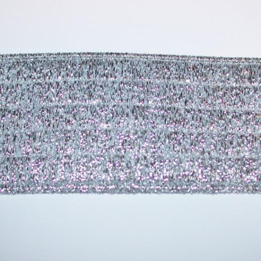 Elastisches Gurtband 40 mm - silber
