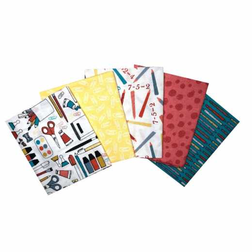 Craft Cotton Stoffpaket - Back To School