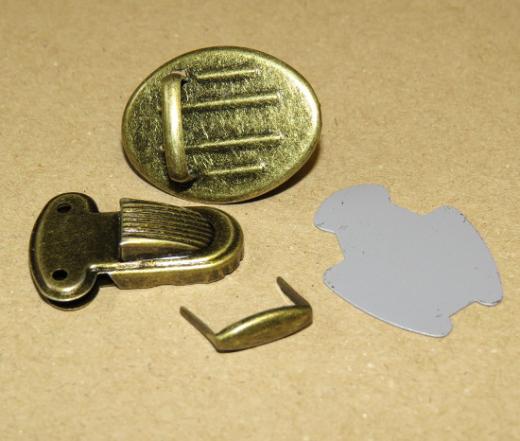 Bag Clasp antique brass