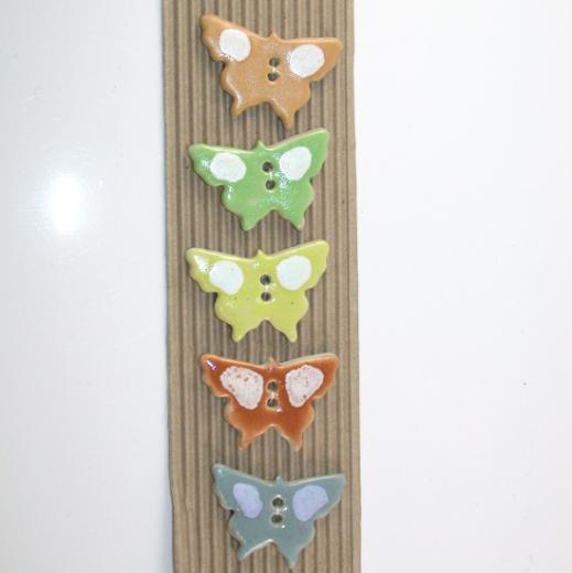 Buttonmade - Bunte Schmetterlinge
