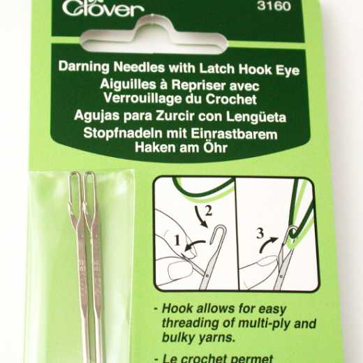Clover Darning Needles with Latch Hook Eye