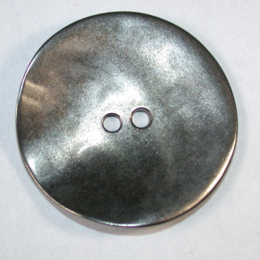 Knopf Metall altsilber - 40 mm
