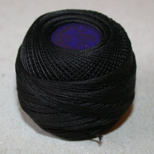 DMC Spitzenhäkelgarn - Noir (schwarz)